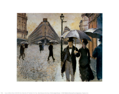 Paris, a Rainy Day, 1877 Art Print