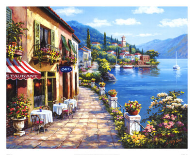 Overlook Cafe I Art Print