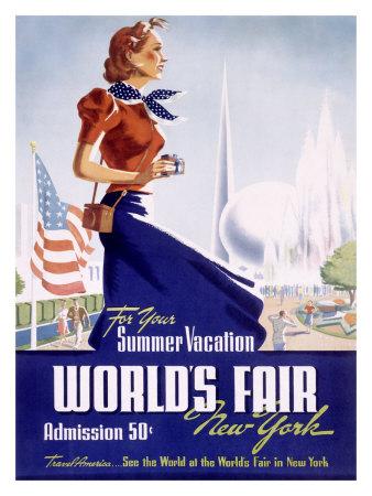 Feria Internacional de Nueva York en 1939 Lámina giclée