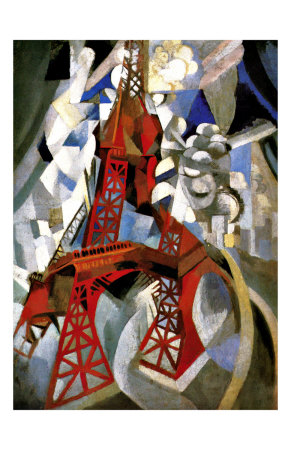 Red Eiffel Tower Giclee Print by Robert Delaunay