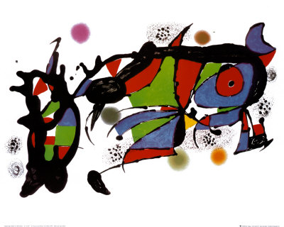 Obra De Joan Miro Reproduction d'art