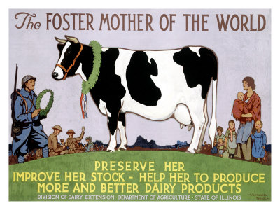 Foster Mother of the World Giclee Print by Richard Fayerweather Babcock