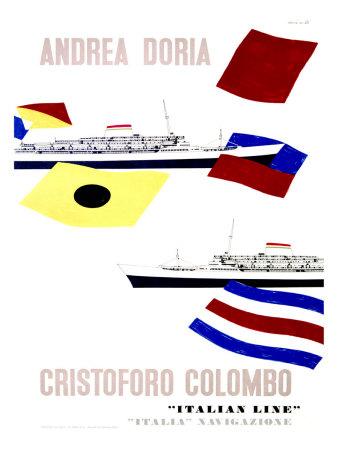 Andrea Doria Christoforo Colombo Giclee Print by Enrico Ciuti