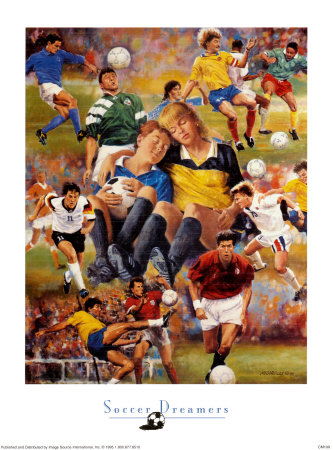 Soccer Dreamers Print by Clement Micarelli