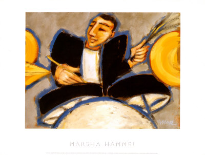 Drums Prints by Marsha Hammel