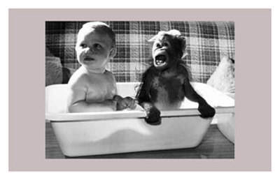 Bath With a Little Friend Prints