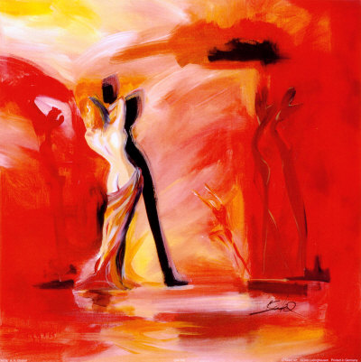 Romance in Red II Art Print