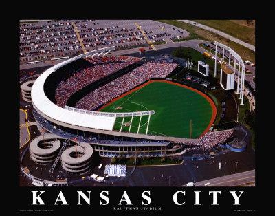 Kansas City Royals - Kauffman Stadium Art by Brad Geller