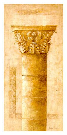 Sepia Column Study II Poster by Javier Fuentes