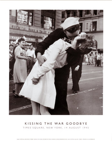 kissing photos. Kissing the War Goodbye Poster