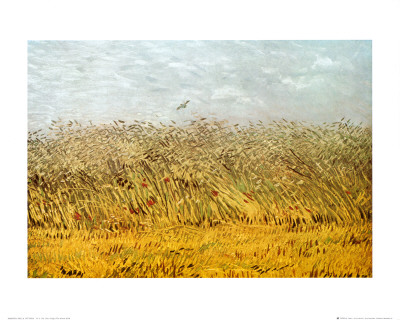The Wheat Field Print by Vincent van Gogh