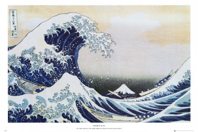 Die groe Welle von Kanagawa, ca. 1829 Poster