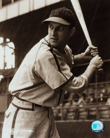 Stan Musial -Batting stance, posed sepia Photo