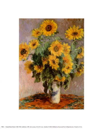 Sunflowers, c.1881 Print by Claude Monet