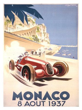 Monaco, 1937 Giclée-tryk af Geo Ham