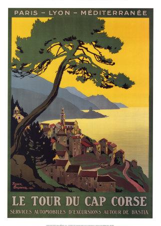 Tour Du Cap Corse Prints by Roger Broders