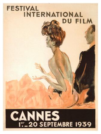 Festival International du Film, Cannes, 1939 Giclee Print by Jean-Gabriel Domergue