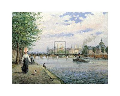 The Bridges of Paris Print by Alan Maley