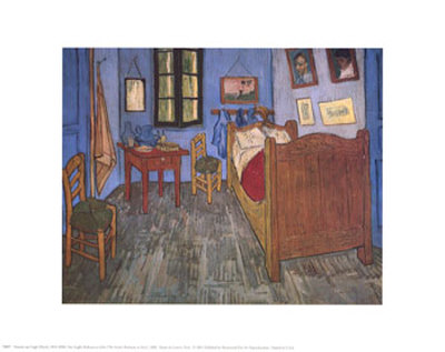 The Bedroom at Arles, c.1887 Kunsttryk