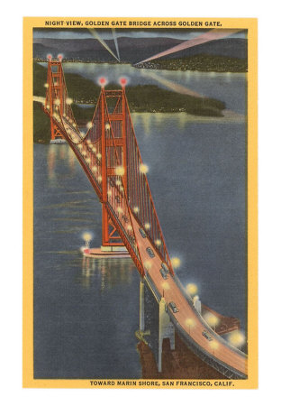 the golden gate bridge at night. Night, Golden Gate Bridge,