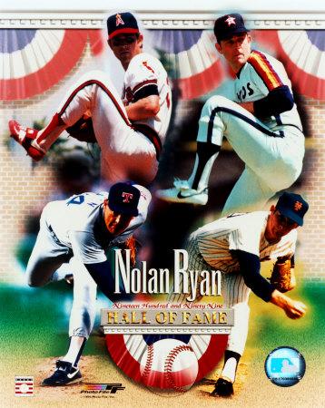 Nolan Ryan - 4 Team Career H.O.F. Composite Photo