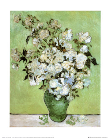 A Vase of Roses, c.1890 Art Print