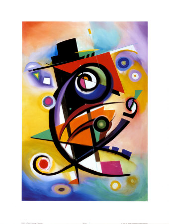 Hommage an Kandinsky (Homage to Kandinsky) Kunstdruck