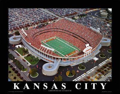 Kansas City Chiefs - Arrowhead Stadium Posters by Brad Geller