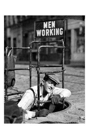 Men Working Giclee Print
