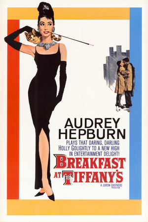 Breakfast at Tiffanys Audrey Hepburn 1961 vintage movie poster