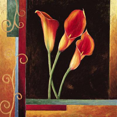 Orange Callas Prints by Jill Deveraux