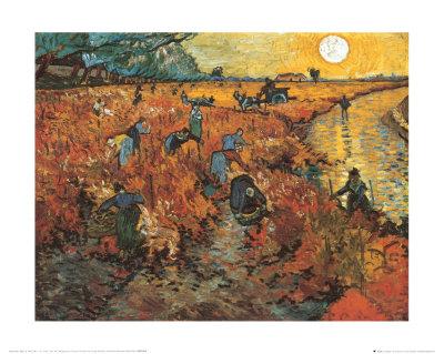 The Red Vineyard at Arles, c.1888 Print by Vincent van Gogh