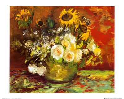 Vase of Flowers Print by Vincent van Gogh