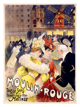 Moulin rouge reproduction procédé giclée