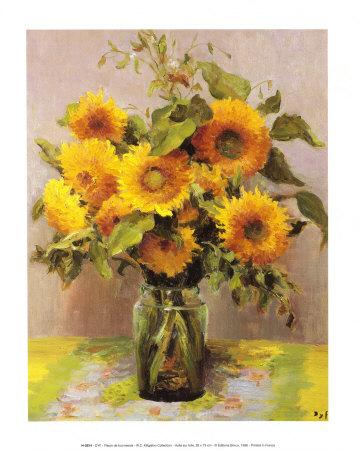 Fleurs de tournesols Prints by Marcel Dyf