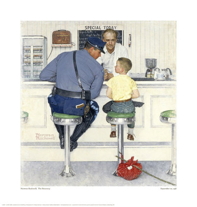 The Runaway Giclee Print by Norman Rockwell at AllPosters.