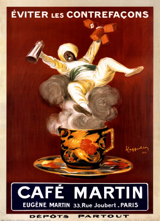 Cafe Martin 1921 Kunstdruck