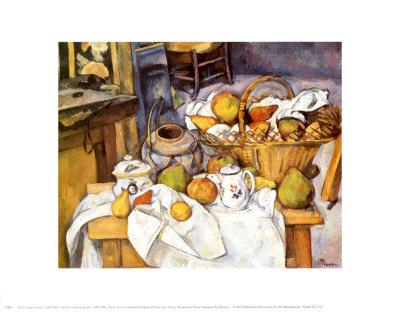Bodegón con cesta de frutas, 1880-1890 Lámina