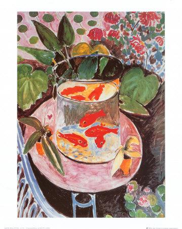 Goudvissen Print van Henri Matisse