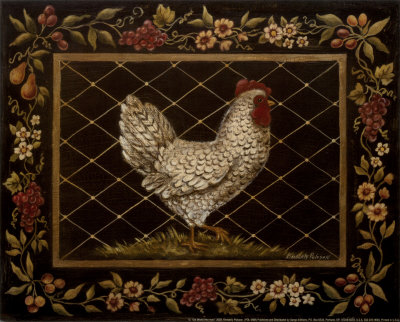Old World Hen Poster by Kimberly Poloson