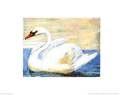 Swan Print by Silvana Crefcoeur