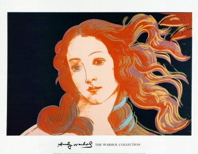 Udsnit af Botticellis Venus' fødsel, ca. 1984 Kunsttryk
