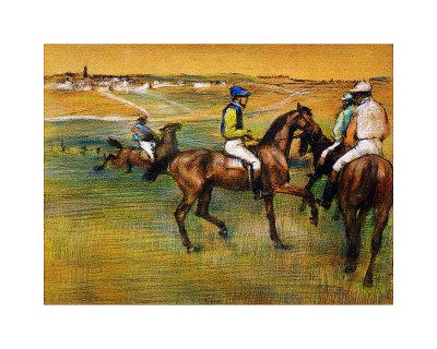 caballos de carreras. Caballos de carreras Lámina