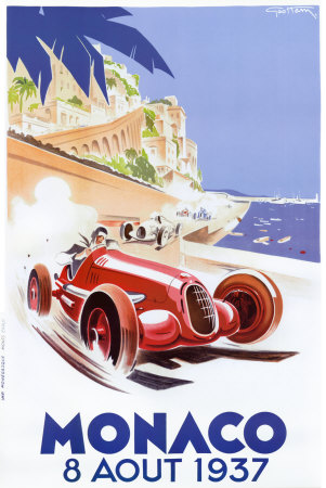Monaco, 1937 Konsttryck