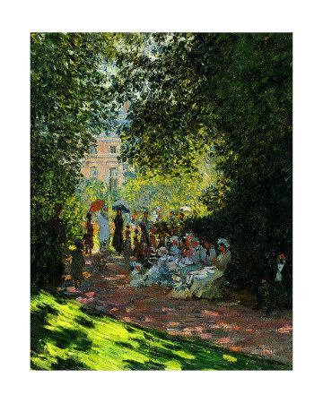 The Parc Monceau Lámina giclée por Claude Monet