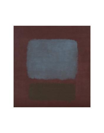 ナンバー 37/19 (濃い青灰色と梅色に茶) 1958年 (No. 37/19) ポスター : マーク・ロスコ