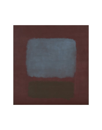 No. 37 / No. 19 (Slate Blue and Brown on Plum), 1958 Posters van Mark Rothko