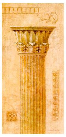 Sepia Column Study I Print by Javier Fuentes