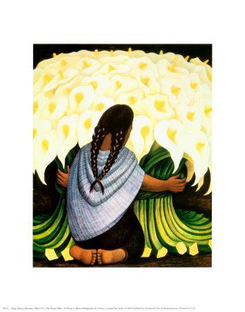 The Flower Seller, c.1942 Poster af Rivera, Diego