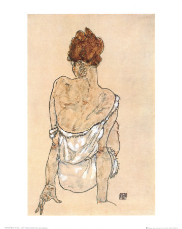 Zittende Vrouw on the Rug Prints by Egon Schiele